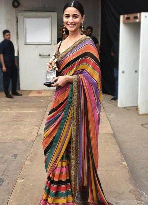 Alia Bhatt Multi Color Printed Saree