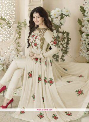 Ayesha Takia Embroidered Off White Designer Salwar Suit