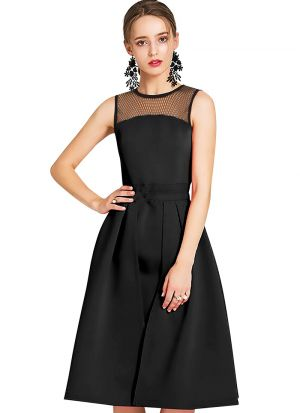 Black Causal Wear One Piece For Womens