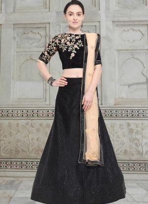 Black Velvet Party Wear Lehenga Choli