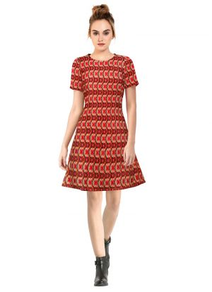 Red Western Dresses For Girl