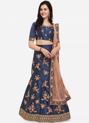 Blue Color Designer Exclusive Bridal Lehenga Choli