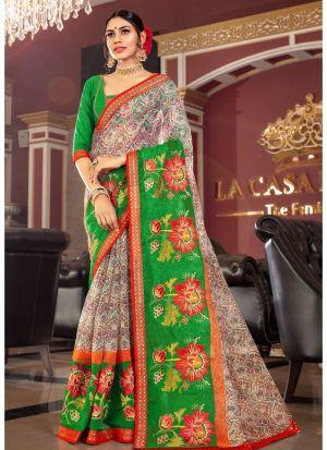Bold And Gorgeous Multi Color Kota Saree