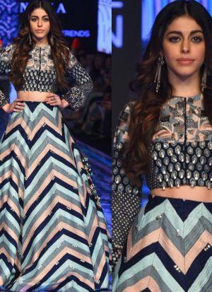 Bollywood Style Multi Color Digital Printed Lehenga Choli