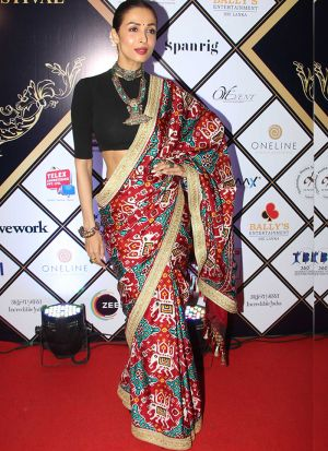 Bollywood Stylish Multi Digital Printed Italian Silk Saree