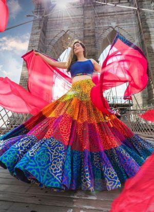Captivating Multi Color Printed Lehenga