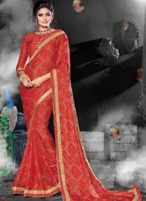 Chiffon Maroon Party Wear Saree Collection