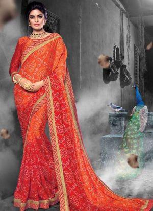 Chiffon Multi Color Traditional Wedding Saree Collection