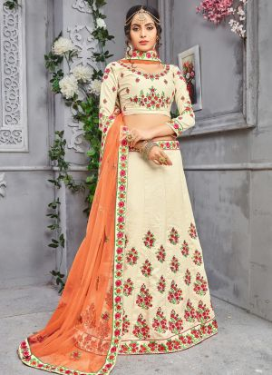 Chiku Banarasi Silk Traditional Lehenga Choli