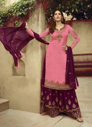 Classic Light Pink Embroidered Salwar Suit