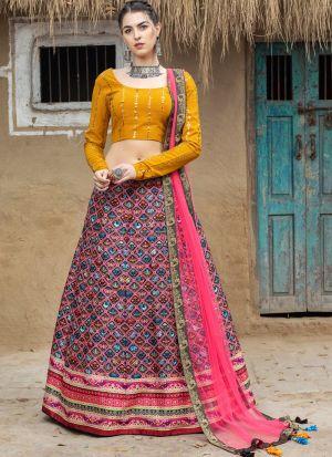 Classy Multi Color Printed Lehenga Choli