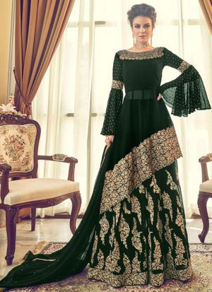 Demanded Faux Georgette Embroidered Salwar Suit