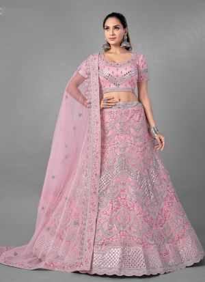 Desiring Pink Gota Work Lehenga Choli