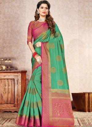Diwali Latest Collections Rama Naylon Silk Saree