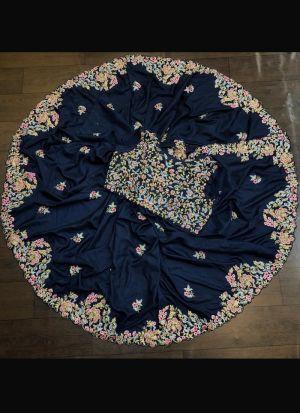 Dola Silk Midnight Blue Saree