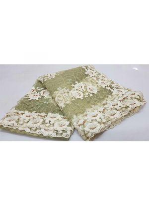 Elaichi Color Multi Work Soft Butterfly Net Party Wear Designer Saree