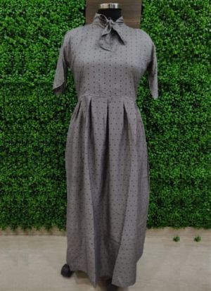Everyday Wear Causal Grey Heavy Crepe Kurti For Women