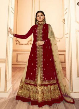 Georgette Embroidered Wedding Special Salwar Suit