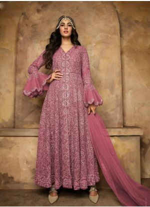 Gorgeous Embroidered Heavy Net Anarkali Suit