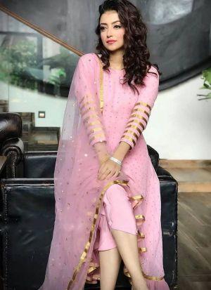 Gorgeous Foil Print Party Wear Salwar Suit