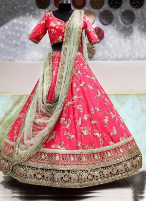 Graceful Pink Occasion Wear Malbari Silk Lehenga Choli