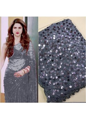 Grey Color New Launching Superhit Jennifer Winget Saree Special Edition
