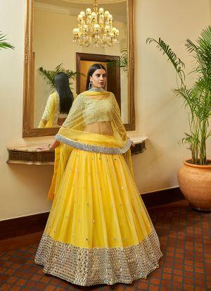 Haldi Special Yellow Lehenga Choli