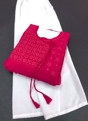 Hot Pink 60 Gm Georgette Suit