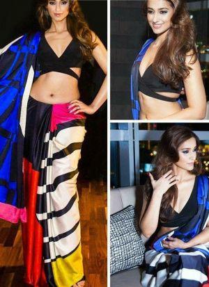 Ileana D Cruz Multi Color Printed Saree
