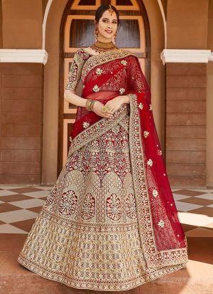 Indain Bridal Velvet Lehenga Choli