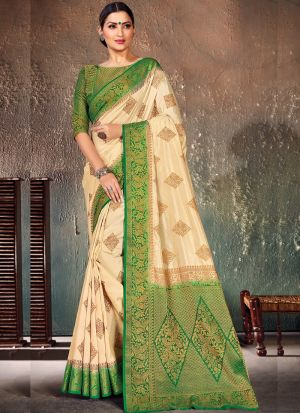 Innovative Green Traditional Wear Saree