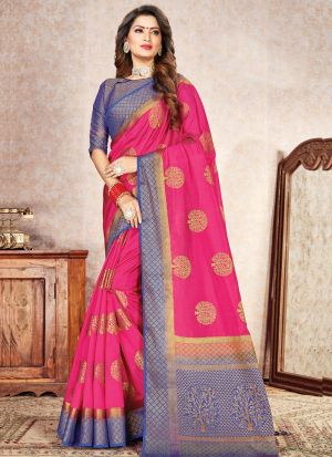 Innovative Pink Traditional Wear Saree