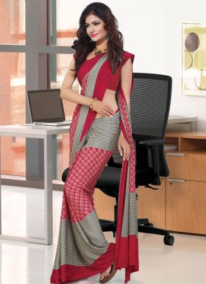 Innovative Red Traditional Wear Saree