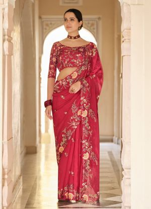 Latest Launched Red Sequence Saree