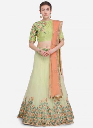 Lemon Designer Lehenga Choli For Wedding