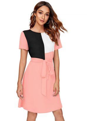 Light Pink Western Wear Designer Dress