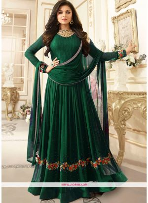 LT Nitya 1906 Diwali Collection Indian Green Foux Georgette Salwar Suit