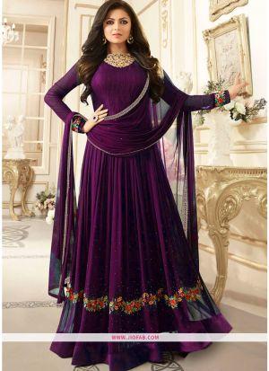 LT Nitya 1906 Purple Foux Georgette Floor Length Traditional Salwar Suit