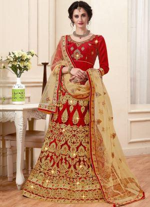 Maroon Designer Exclusive Bridal Lehenga Choli