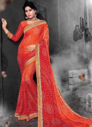 Multi Color Chiffon Wedding Saree Collection