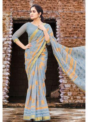 Multi Color Elegant Cotton Saree