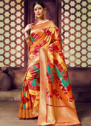 Multi Color Handloom Cotton Designer Traditional Saree Collection