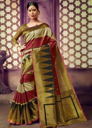 Multi Color Handloom Cotton Traditional Saree Collection
