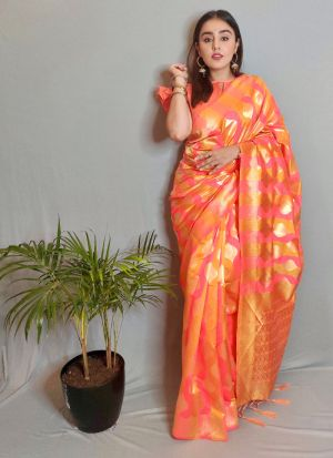 Multi Color Silk Traditional Saree