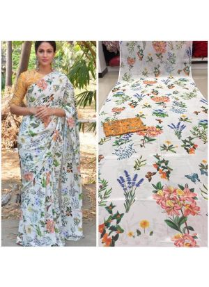 Multi Color Weightless 60 Gm Digital Printed Designer Saree