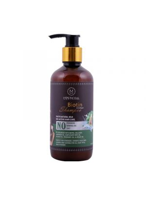 Mysticoal Biotin And Collagen Hair Shampoo Perfect For Stronger Shiner And Healthier Hair 300 Ml