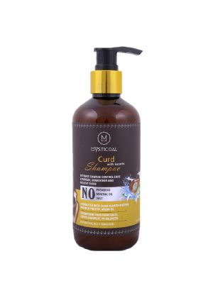 Mysticoal Curd With Keratin Protein For Anti-Breakage Hair Growth & Damage Control For Women Hair Shampoo 300 Ml