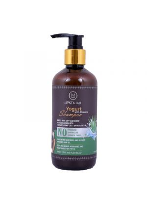 Mysticoal Yogurt With Aloe Vera Smoother & Shiner Hair Daily Care For Men And Women Hair Shampoo 300 Ml