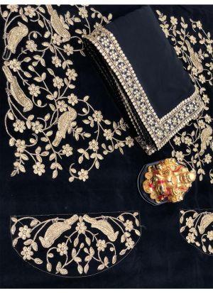 New Collection Georgette Black Designer Saree