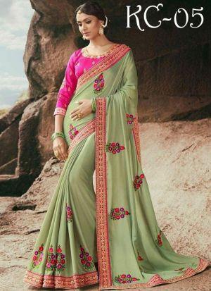 New Collection Rangoli Parrot Designer Saree